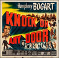 Movie Posters:Film Noir, Knock on Any Door (Columbia, 1949). Folded, Fine+....