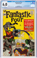 Silver Age (1956-1969):Superhero, Fantastic Four #2 (Marvel, 1962) CGC FN 6.0 Off-white pages....