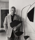 Photographs:Gelatin Silver, Arnold Newman (American, 1918-2006). Three Portraits of Alexander Calder (3 works), 1943; 1957. Gelatin silver, one prin... (Total: 3 )