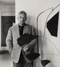 Arnold Newman (American, 1918-2006) Three Portraits of Alexander Calder (3 works), 1943; 1957 Gelati
