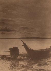 Edward Sheriff Curtis (American, 1868-1952) Clam Diggers, 1898 Gelatin silver, printed later 7-1/2 x 5-1/2 inches (19