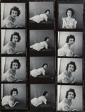Photographs:Gelatin Silver, Milton Greene (American, 1922-1985). A Group of Eight Contact Sheets of Dorian Leigh (8 works), 1953. Gelatin silver. 10... (Total: 8 )