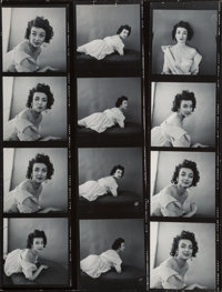Milton Greene (American, 1922-1985) A Group of Eight Contact Sheets of Dorian Leigh (8 works), 1953 Gelatin silver 10...