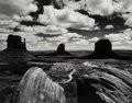 Photographs:Gelatin Silver, Brett Weston (American, 1911-1993). Monument Valley, 1969. Gelatin silver, printed later. 10-3/8 x 13-1/4 inches (26.4 x...