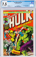 Bronze Age (1970-1979):Superhero, The Incredible Hulk #181 (Marvel, 1974) CGC VF- 7.5 Off-white to white pages....