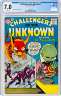 Silver Age (1956-1969):Science Fiction, Challengers of the Unknown #1 (DC, 1958) CGC FN/VF 7.0 Off-white pages....