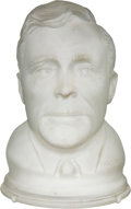 Political:3D & Other Display (1896-present), Wendell Willkie: Frosted Glass Figural Lamp.. ...