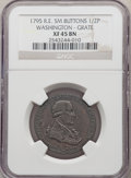 1795 1/2 P Washington Grate Halfpenny, Small Buttons, Reeded Edge XF45 NGC. NGC Census: (3/18). PCGS Population: (4/45)...