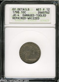 Early Dimes: , 1798 10C Large 8--Damaged, Tooled, Repaired, Whizzed--ANACS. XFDetails, Net Fine 12....