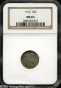 Barber Dimes: , 1912 10C MS65 NGC....