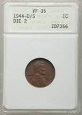 1944-D/S 1C VF35 ANACS. Die-2. CDN: $110 Whsle. Bid for problem-free NGC/PCGS VF35. Mintage 430,577,984. From The Po