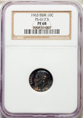 1963 10C Doubled Die Reverse, FS-802, PR68 NGC. (FS-017.5). NGC Census: (40/24). PCGS Population: (4/0). From The P...(P...
