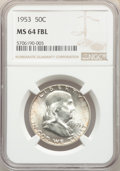1953 50C MS64 Full Bell Lines NGC. NGC Census: (213/71). PCGS Population: (1351/433). CDN: $120 Whsle. Bid for problem-f...