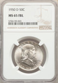 Franklin Half Dollars: , 1950-D 50C MS65 Full Bell Lines NGC. NGC Census: (240/10). PCGS Population: (901/100). CDN: $175 Whsle. Bid for problem-fre...