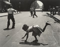 Photographs:Gelatin Silver, Walter Rosenblum (American, 1919-2000). Hopscotch, 105th St., New York City, 1952. Gelatin silver, printed later. 10-1/2...
