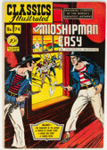 Golden Age (1938-1955):Classics Illustrated, Classics Illustrated #74 Mr. Midshipman Easy - First Edition (Gilberton, 1950) Condition: FN....
