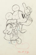 Animation Art:Production Drawing, Mickey's Amateurs Mickey Mouse Animation Drawing (Walt Disney, 1937).. ...
