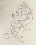Animation Art:Production Drawing, Fantasia - Sorcerer's Apprentice Mickey Mouse Animation Drawing (Walt Disney, 1940).. ...
