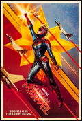 "Movie Posters:Action, Captain Marvel (Walt Disney Studios, 2019). Rolled, Near Mint. One Sheet (26.75"" X 39.75"") DS, Teaser, Dolby Cinema Style. A..."