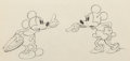 Animation Art:Production Drawing, Puppy Love Mickey Mouse and Minnie Mouse Animation Drawing (Walt Disney, 1933). . ...