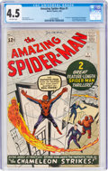Silver Age (1956-1969):Superhero, The Amazing Spider-Man #1 (Marvel, 1963) CGC VG+ 4.5 Off-white pages....