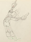 Animation Art:Production Drawing, Mickey's Circus Mickey Mouse Animation Drawing (Walt Disney, 1936). . ...