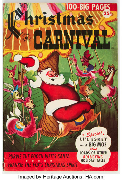 Christmas Carnival Poster.Christmas Carnival Nn Ziff Davis 1952 Condition Fn