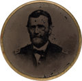 """Political:Ferrotypes / Photo Badges (pre-1896), Ulysses S. Grant: Unusual Embossed Ferrotype """"Trade Card"""". . ..."""