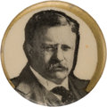 Political:Pinback Buttons (1896-present), Theodore Roosevelt: Unusual 1912 Picture Pin.. ...