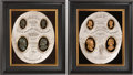 Political:3D & Other Display (pre-1896), Grant & Colfax and Grant & Wilson: Jugate High Relief Plaques.... (Total: 2 Items)