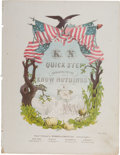 "Political:Small Paper (pre-1896), [Millard Fillmore]: Graphic ""Know Nothings"" Sheet Music.. ..."