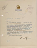 Political:Small Paper (1896-present), Franklin D. Roosevelt: Typed Letter Signed [TLS] as Governor.. ...