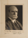 Political:Small Paper (1896-present), Charles Evans Hughes: Personally-Signed Studio Portrait.