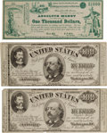 Political:Small Paper (pre-1896), Benjamin F. Butler: Three Pieces of Satirical Anti-Greenback Currency.. ... (Total: 3 Items)