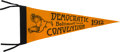 Political:Textile Display (1896-present), [Woodrow Wilson]: Democratic Convention Pennant.. ...