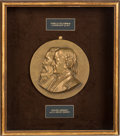 Political:3D & Other Display (pre-1896), Greeley & Brown: Rare, High-Relief, Jugate Bronze Plaque.. ...