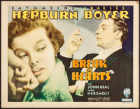 "Break of Hearts (RKO, 1935). Fine+. Title Lobby Card (11"" X 14""). Romance"