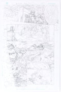Original Comic Art:Panel Pages, Ed Benes and Richard Friend Deathstroke #33 Story Page 11Original Art (DC, 2018)....