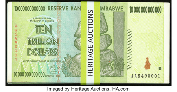 Zimbabwe 10 Trillion Dollars
