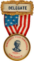 Political:Ribbons & Badges, Woodrow Wilson: Delegate Convention Badge.. ...