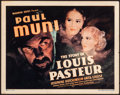 Movie Posters:Drama, The Story of Louis Pasteur (Warner Brothers, 1935). Very F...