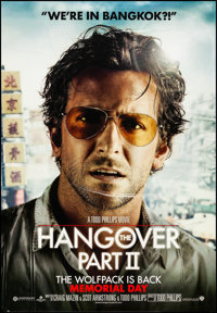 "The Hangover Part II (Warner Brothers, 2011). Rolled, Very Fine. Bus Shelter (47"" X 68"") DS Advance, Bradley C..."