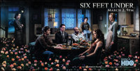"""Six Feet Under (HBO, 2003). Rolled, Fine/Very Fine. Plastic Banner (60"""" X 30"""") DS Advance. Drama"""