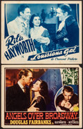 Movie Posters:Drama, Angels Over Broadway & Other Lot (Columbia, 1940). Fine/Ve...
