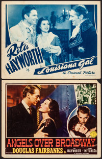 """Angels Over Broadway & Other Lot (Columbia, 1940). Fine/Very Fine. Lobby Cards (2) (11"""" X 14""""). Drama..."""