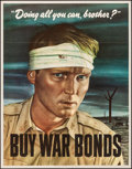 "Movie Posters:War, World War II Propaganda (U.S. Government Printing Office, 1943). Folded, Very Fine. War Bonds Poster (22"" X 28"") ""Doing All ..."