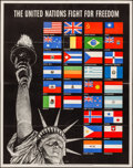"""Movie Posters:War, World War II Propaganda (U.S. Government Printing Office, 1942). Folded, Very Fine-. OWI Poster No. 19 (22"""" X 28"""") """"The Unit..."""