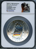 Modern Commemoratives, 2019-P $1 Apollo 11 50th Anniversary, Five Ounce Silver, First Releases PR70 Ultra Cameo NGC. NGC Census: (0). PCGS Populat...