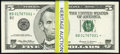 Fr. 1987-B* $5 1999 Federal Reserve Star Notes. Fifty Consecutive Examples. Choice Crisp Uncirculated or Better