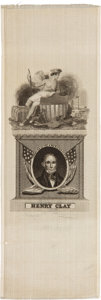 Political:Ribbons & Badges, Henry Clay: Silk Portrait Ribbon.. ...